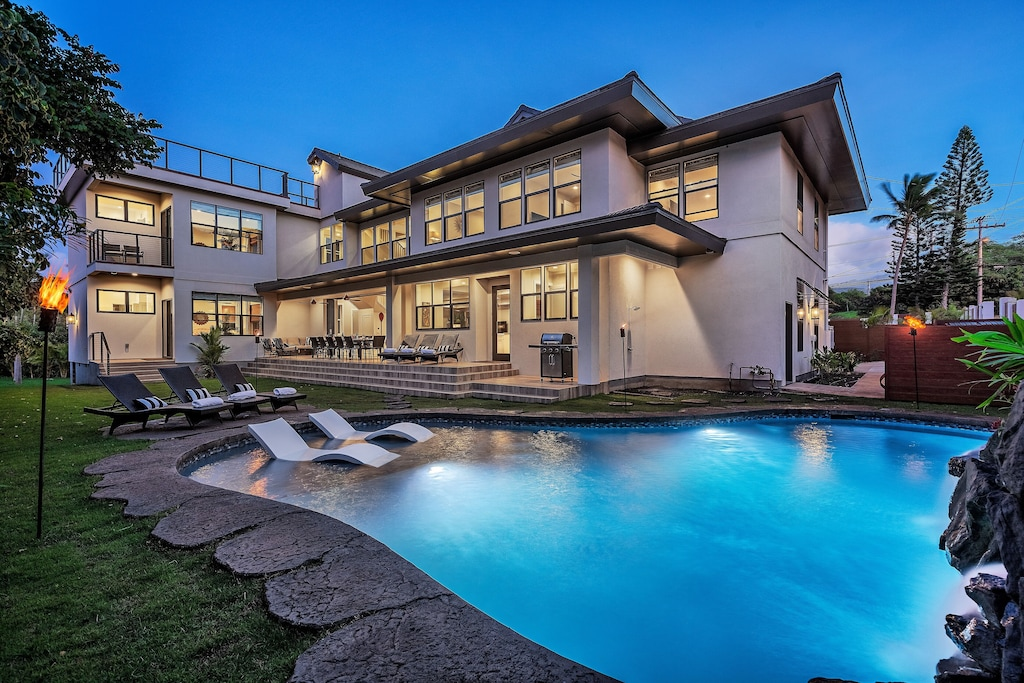 This upscale home is where to stay in Maui with the family