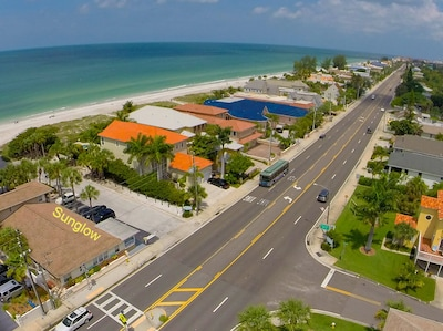 ....a PRIVATE MILE of RESIDENTIAL GULF FRONT HOMES...Just You &  the Sea... .