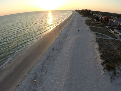 JUST IMAGINE...a MILE of PRIVATE BEACHFRONT HOMES,all just 2 BLOCKS to DOWNTOWN