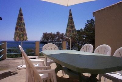Terrasse, ombre ou soleil, au choix!