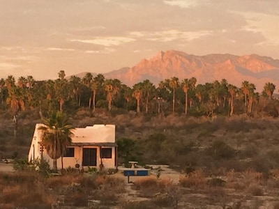 Sunset on the mountains behind the casita -paradise between the mountains & sea.