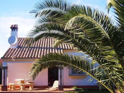 Preciosa casa con jardín en la playa cerca de inmediato.