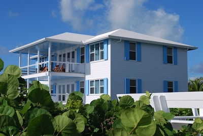 Southern Cross exterior surrounded by plush Vegetation and Coastal Dunes .