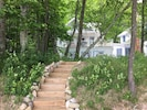 Steps from beach to Boat House