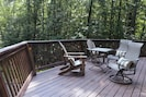 Large relaxing deck to listen to the birds!