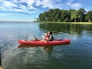 Kayaks available with beautiful places to explore in your front yard