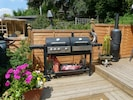 BBQ & log burner