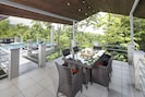 Outdoor dining for 6-8 in the wildlife observation tower