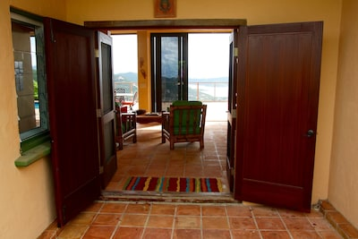 Once you open the front doors, you can see forever!