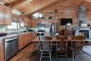 This cabin's open floor plan is something that our guests love.