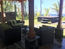 Lovely new poolside lanai is like an outdoor living room!