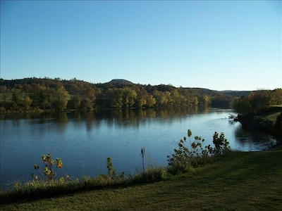 River view from the back deck of cabin