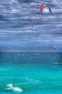 Watching kiteboarders is almost as much fun as kiteboarding.