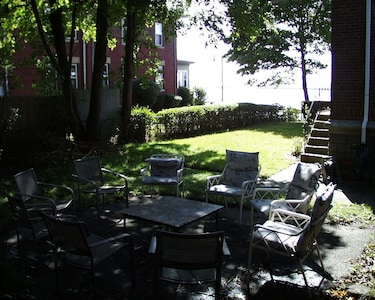 Outside seating and Garden area
