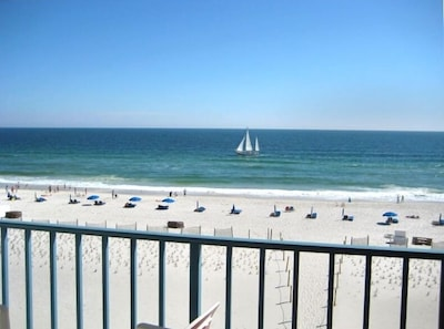 Awesome View of beach & water from balcony...3rd floor