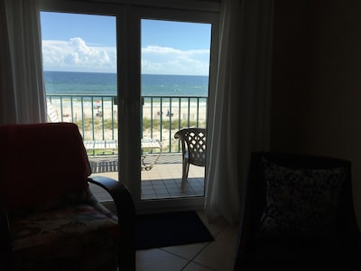 Beach/gulf  view from living room
