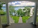 walk that lead to 15 steps to lake shoreline.