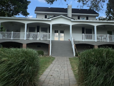 front view right before steps to shoreline