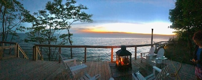 The world's best view of Lake Michigan, from your own private deck.