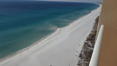 View of the Beach from the 19th Floor.