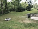 Backyard w/fire pit and barbecue gas grill