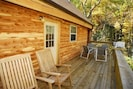rear deck for grilling and dining
