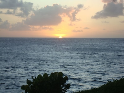A beautiful sunset viewed from the lanai.