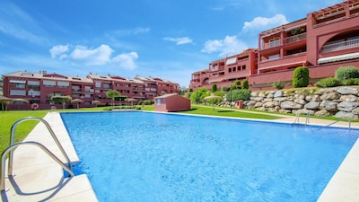 Apartment Complex with Large Pool