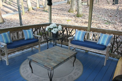 Front Porch is covered and quiet...........