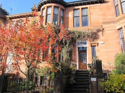 Glasgow West End, Glasgow, Écosse, Royaume-Uni