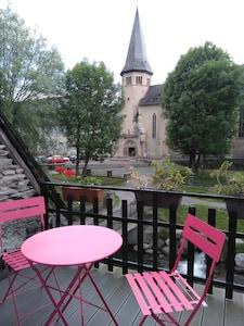 La chapelle Saint Exupère vue de la terrasse