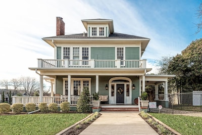 The original tiny farm house, built in 1890, was added to creating this beauty.