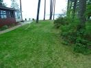 Side Yard looking toward Burt Lake