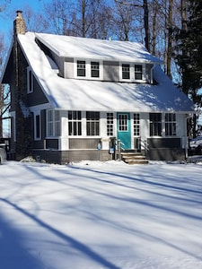 A sunny, snowy day at the cottage in mid January 2018.