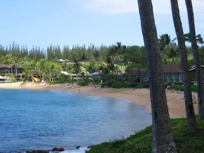 Looking out at Napili beach.