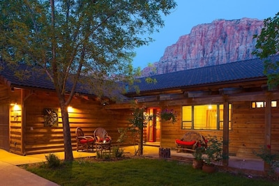 Nama-Stay's warm welcoming feel, nestled privately below Zion National Park