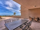 Outdoor table seating for 12