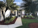 Step into our newly remodeled villa, with beautiful updated outside lighting