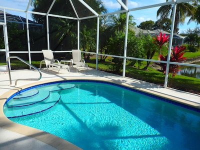 Relax in your private pool at a balmy 85 degrees with desired southern exposure