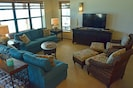 Great Room Lounge Area with Smart TV, DVD, Wifi, & lots of seating