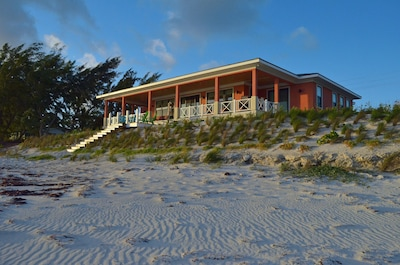 View of the house on the beach side, Convenient to everything on the island