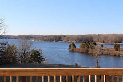 View from large deck off of Family room where we love to have morning coffee!