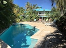 With both sunny & shady spots this pool has seating for everyone  ++VERY PRIVATE