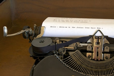 The Type Inn includes vintage typewriters for your use and as objects of art.