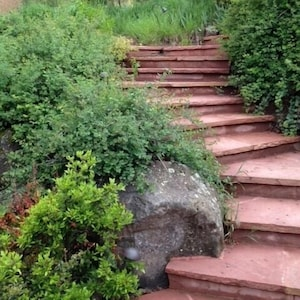 Rock stair way takes you to Casa Del Sol