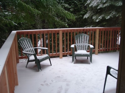 New deck in the snow