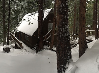 Mountain House cabin after a nice snowstorm