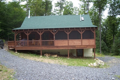 Covered porch with screened in area