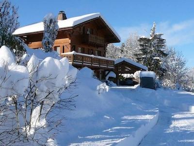 sous la neige et à proximité des pistes