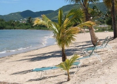 WALK ONTO THE BEACH FROM YOUR GALLERY AFTER LYING IN YOUR HAMMOCK AND RELAXING!